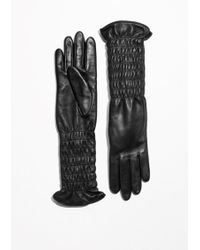 & Other Stories - Smocked Leather Gloves - Lyst