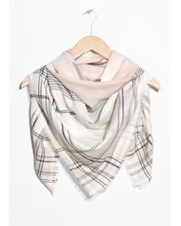 & Other Stories - Chequered Neck Scarf - Lyst