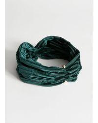 & Other Stories - Velvet Stripe Hairband - Lyst