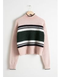 & Other Stories - Striped Mock Neck Sweater - Lyst