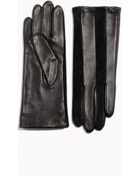 & Other Stories - Suede Meets Leather Panelling Gloves - Lyst