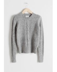 & Other Stories - Cable Knit Sweater - Lyst