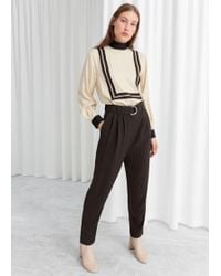 & Other Stories - Belted Tapered Trousers - Lyst