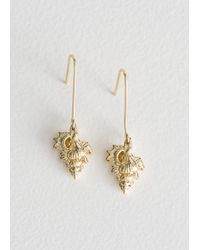 & Other Stories - Conch Shell Hanging Earrings - Lyst