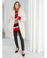 & Other Stories - Faux Shearling Coat - Lyst