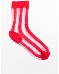 & Other Stories - Striped Sheer Socks - Lyst