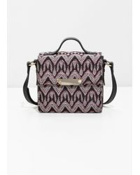 & Other Stories - Structured Jacquard Crossbody Bag - Lyst