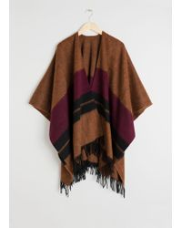 & Other Stories - Wool Blanket Poncho - Lyst