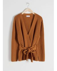 & Other Stories - Wool Blend Wrap Cardigan - Lyst