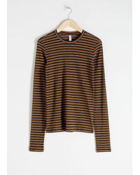 & Other Stories - Sheer Striped Top - Lyst