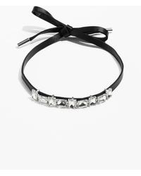 & Other Stories - Leather Choker With Jewels - Lyst