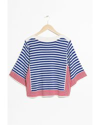 & Other Stories - Striped Crochet Top - Lyst