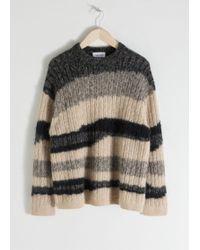 & Other Stories - Asymmetric Striped Wool Blend Jumper - Lyst