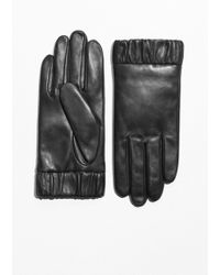 & Other Stories - Elastic Cuff Leather Gloves - Lyst