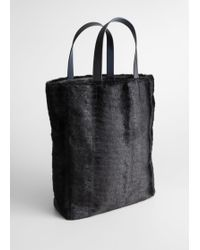 & Other Stories - Large Faux Fur Tote - Lyst