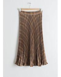 & Other Stories - Pleated Plaid Midi Skirt - Lyst