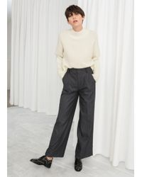 & Other Stories - Wide Checked Trousers - Lyst