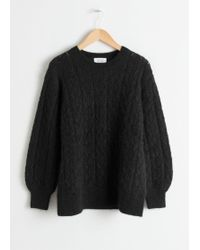 & Other Stories - Oversized Eyelet Knit Jumper - Lyst