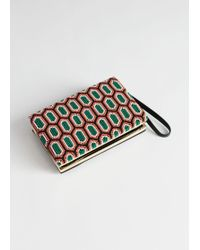 & Other Stories - Graphic Diamond Beaded Clutch - Lyst