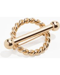 & Other Stories - Twisted Circle Bar Brooch - Lyst