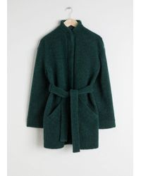 & Other Stories - Wool Blend Belted Jacket - Lyst