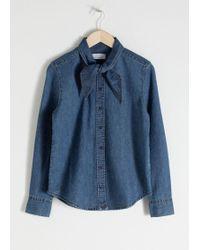 & Other Stories - Organic Cotton Denim Tie Shirt - Lyst