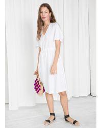 & Other Stories - Drawstring Waist Midi Dress - Lyst