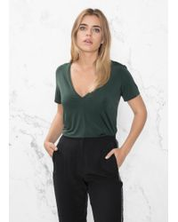 & Other Stories - Cupro V-neck Top - Lyst