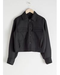 & Other Stories - Wool Blend Workwear Jacket - Lyst