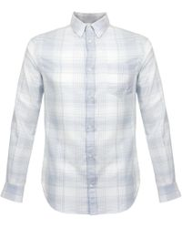 Norse Projects | Osvald Light Check Pale Blue Shirt N40-0362 | Lyst