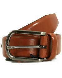 Andersons - Andersons Plain Honey High Shine Leather Belt - Lyst