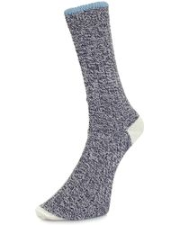 Universal Works - Stratos Navy Socks - Lyst