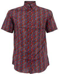 Liberty - Liberty Of London Ramsey Burgundy Paisley Shirt 152da182 83 - Lyst