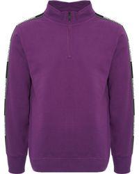 Napapijri - Beja Quarter Zip Sweatshirt - Purple - Lyst