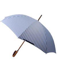 London Undercover - Oxford Wide Stripe City Gent Umbrella - Lyst