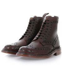 Grenson - Fred The Triple Welt Brown Brogue Boot - Lyst