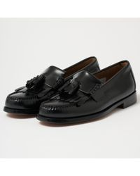 9c62b30d545 Lyst - Burberry Contrast Kiltie Fringe Leather Loafers in Brown for Men