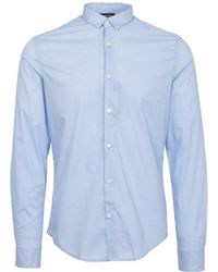 Armani Jeans | Fantasia Azzuro Slim Fit Polka Dot Shirt | Lyst