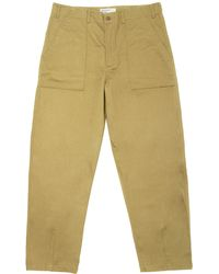 Universal Works - Sand Fatigue Chinos - Lyst