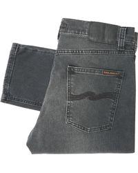 Nudie Jeans - Lean Dean Denim Jeans - Mono Grey - Lyst