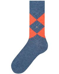 Burlington - Blue Neon King Argyle Socks - Lyst