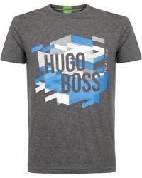 BOSS Green - Hugo Boss Teeos Grey T-shirt - Lyst