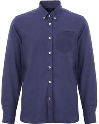 Gloverall - Chambray Shirt - Blue - Lyst