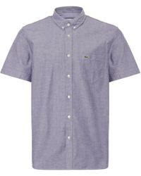 Lacoste - Marine Short Sleeve Classic Oxford Shirt - Lyst