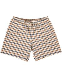 Aquascutum | Vicuna Club Check Swim Shorts | Lyst