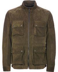6d27b062370d Lyst - Belstaff Brad 4-pocket Field Jacket in Brown for Men