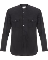 Still By Hand Chest Pocket Navy Shirt