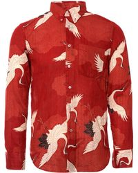 Naked & Famous - Japanese Crane Shirt - Red - Lyst