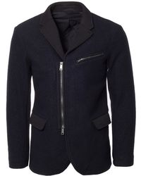 Armani Jeans | Navy Zip Blazer | Lyst