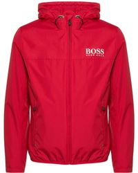 BOSS Athleisure - Red Jeltech Jacket - Lyst